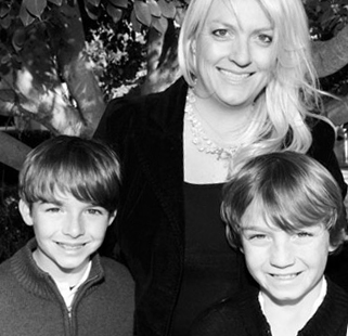 Kara Lynch and her sons