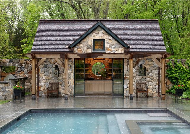 the pinteresting five poolhouses to die for - Pool House Designs Ideas