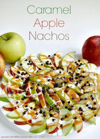 carmel apple nachos