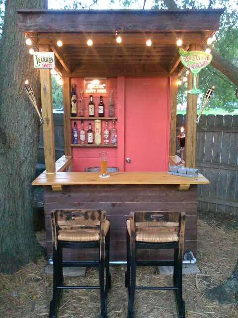 Backyard shed man cave coastal premier properties - Bar canopy designs ...